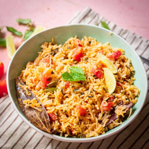 Recipe for Tomato Rice   Tomato Biryani
