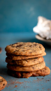 stacked cookies, chocolate chip cookies, food photography