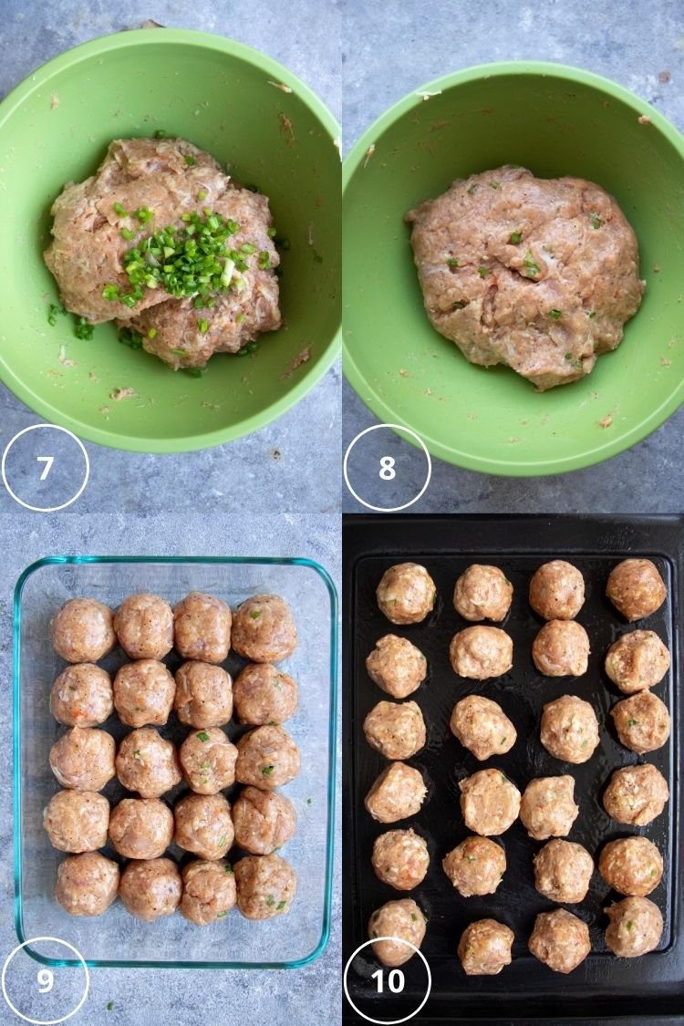 baking meatballs step by step pics