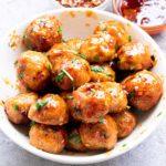 spicy chicken meatballs | firecracker meatballs