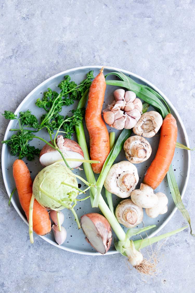 instant pot vegetable stock scraps, sweet vegetables