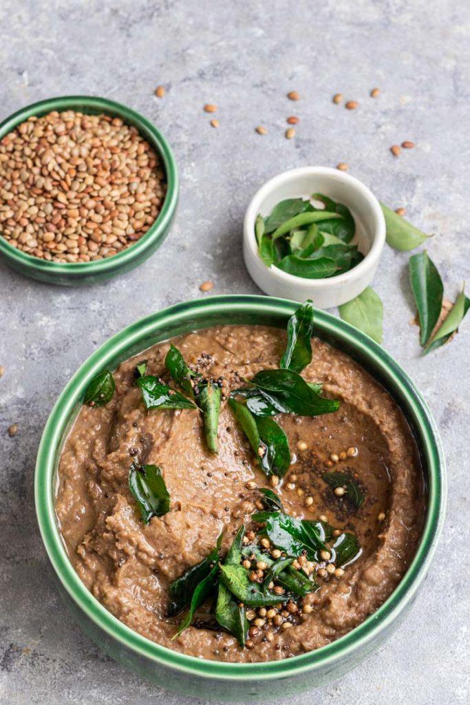 brown lentil mash