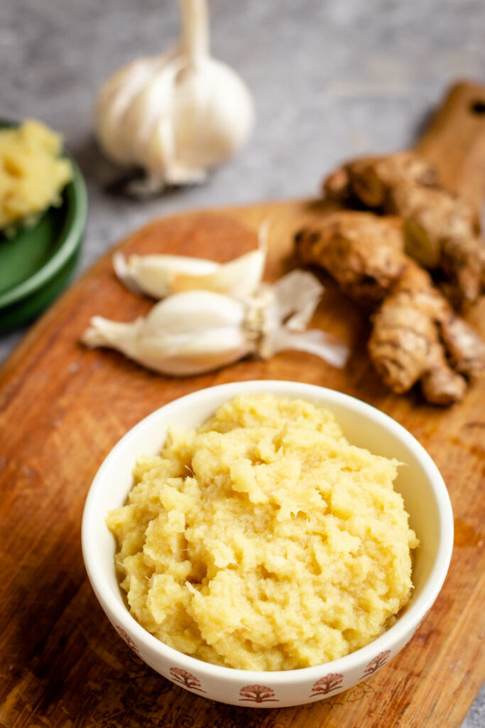 ginger garlic paste, how to make ginger garlic paste, GInger Garlic Paste recipe
