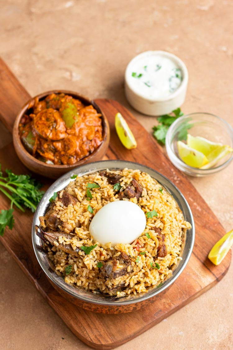 Instant Pot Mutton Biryani, easy mutton biryani recipe