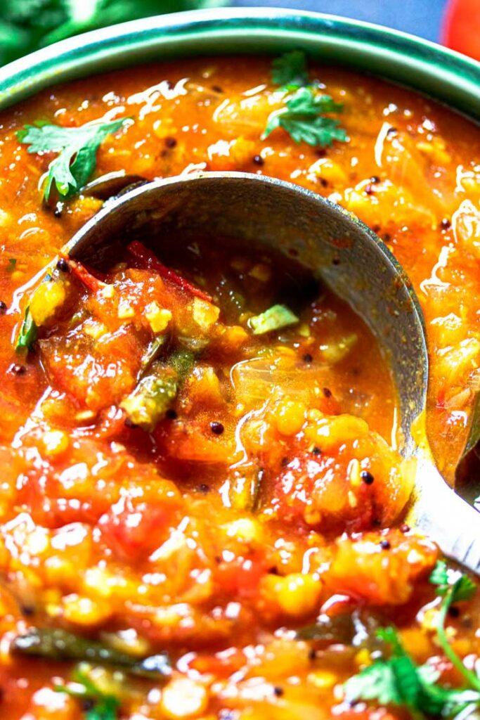 close up of tomato bajji