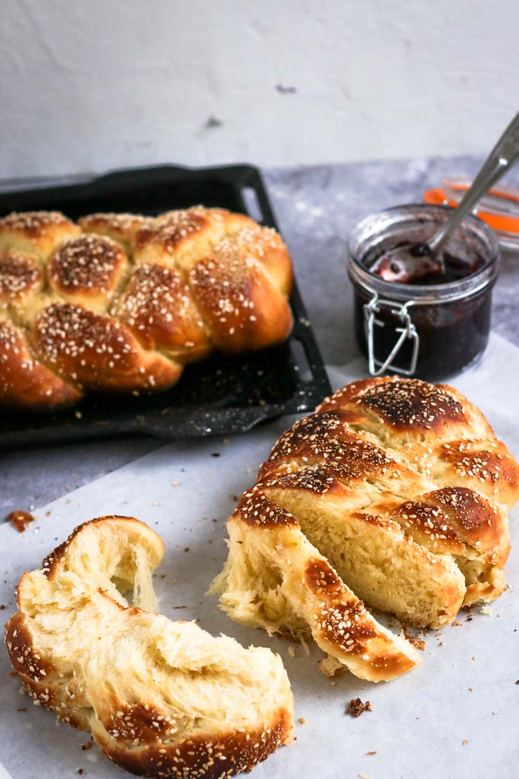 challah recipe easy made with instant yeast