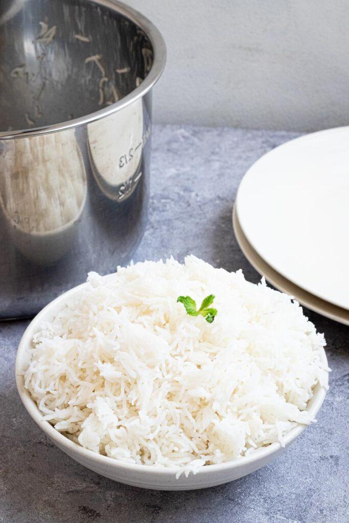 A BOWL OF BASMATI RICE, Instant Pot Basmati Rice