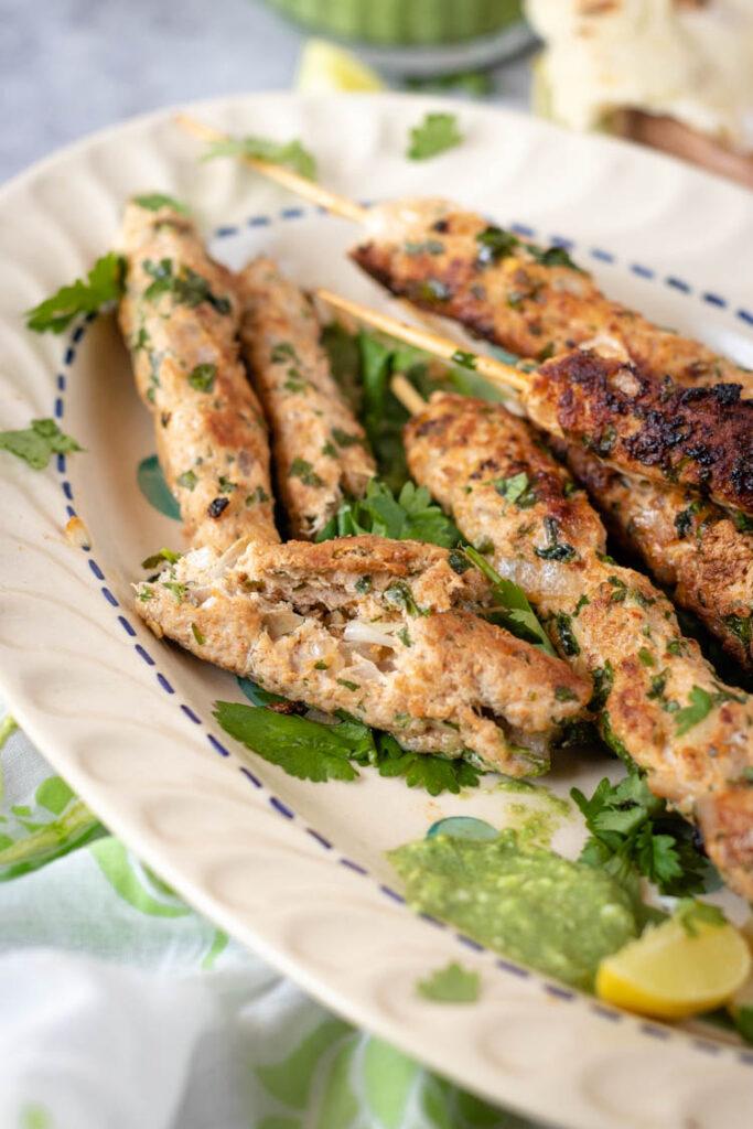 Juicy Seekh kebab, restuarant style chicken seekh kabab