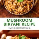 recipe for mushroom biryani