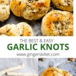 GARLIC KNOTS WITH PIZZA DOUGH
