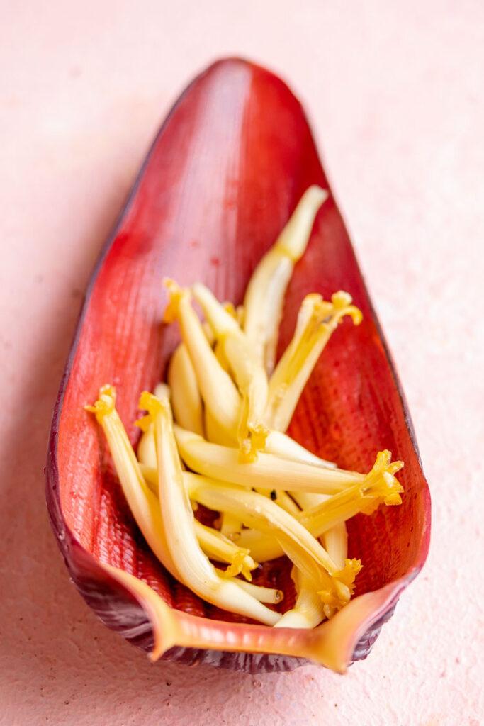 Preparing Banana blossom, vazhai poo vadai,