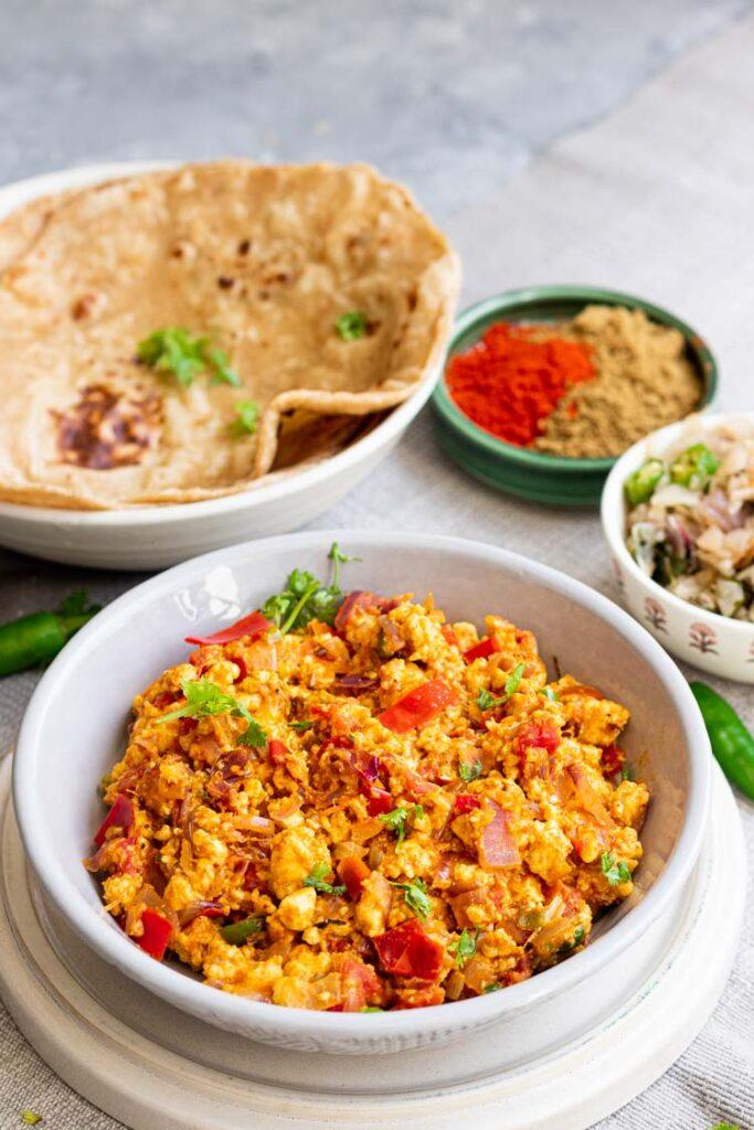 recipe for paneer bhurji